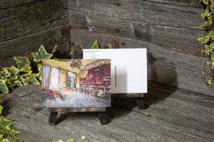 Lost Place Postkarte books galore