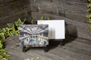 Lost Place Postkarte framed in iron